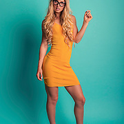 Studio fashion shoot with Los Angeles model, Pernille Soe. Images made at FD Photo Studios  on June 30, 2018 in Downtown Los Angeles, California.  ©Michael Der