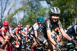 Cecilie Uttrup Ludwig (DEN) of Bigla Pro Cycling Team smiles during the Amstel Gold Race - Ladies Edition - a 126.8 km road race, between Maastricht and Valkenburg on April 21, 2019, in Limburg, Netherlands. (Photo by Balint Hamvas/Velofocus.com)