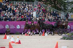 Degrieck Dries, BEL, Charlie, Dirk, Garrelt, Grenadier<br /> FEI European Driving Championships - Goteborg 2017 <br /> © Hippo Foto - Dirk Caremans
