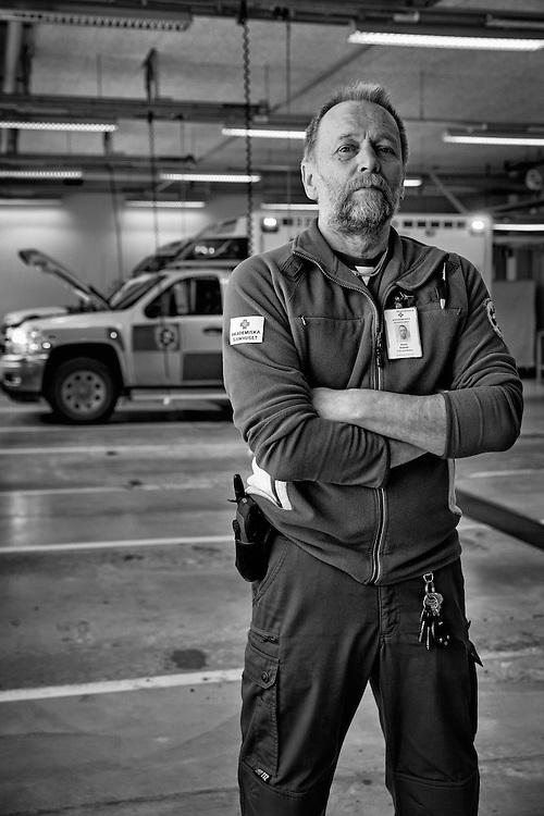 Sonny Eisfledt, Swedish Traveler Descendant and ambulance driver at the Uppsala University Hospital.