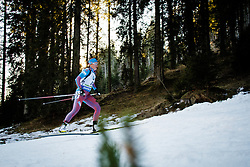 Olga Podchufarova (RUS) during Women 12.5 km Mass Start at day 4 of IBU Biathlon World Cup 2015/16 Pokljuka, on December 20, 2015 in Rudno polje, Pokljuka, Slovenia. Photo by Ziga Zupan / Sportida
