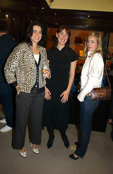 Left to right, sisters EMILY MULLION, SAMANTHA CAMERON and ALICE SHEFFIELD at a party to celebrate the 10th anniversary of the Smythson Fashion Diary and to the launch of the 2007 Limited Edition held at Smythson, New Bond Street, London on 25th October 2006.<br /><br />NON EXCLUSIVE - WORLD RIGHTS
