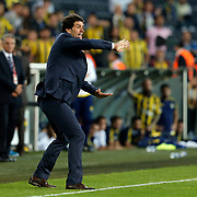 Akhisar Belediye Genclik ve Spor's headcoach Cihat Arslan during their Turkish super league soccer match Fenerbahce between Akhisar Belediye Genclik ve Spor at the Sukru Saracaoglu stadium in Istanbul Turkey on Sunday 04 October 2015. Photo by Aykut AKICI/TURKPIX