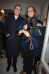BEN & KATE GOLDSMITH and their dog Maggie at a book signing of Lady Annabel Goldsmith's book 'Copper: A Dog's Life' held at Mungo & Maud, 79 Elizabeth Street, London SW1 on 20th February 2007.<br /><br />NON EXCLUSIVE - WORLD RIGHTS