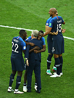 Didier Deschamps (France) celebrates with Blaise Matuidi (France) and Benjamin Mendy (France)<br /> Celebration Victory France <br /> Moscow 15-07-2018 Football FIFA World Cup Russia  2018 Final / Finale <br /> France - Croatia / Francia - Croazia <br /> Foto Matteo Ciambelli/Insidefoto