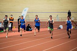 Tilen Ovnicek (4 from left), Kocevar Nick ( 3 from left) during Slovenian Indoor Championship, Olympic centre Novo Mesto, 13 February 2021, Novo Mesto, Slovenia. Photo by Grega Valancic / Sportida