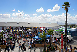The Lookout registration with riders arriving and collecting their race packs and bags during the pre race events held at the V&A Waterfront in Cape Town prior to the start of the 2017 Absa Cape Epic Mountain Bike stage race held in the Western Cape, South Africa between the 19th March and the 26th March 2017<br /> <br /> Photo by Emma Hill/Cape Epic/SPORTZPICS<br /> <br /> PLEASE ENSURE THE APPROPRIATE CREDIT IS GIVEN TO THE PHOTOGRAPHER AND SPORTZPICS ALONG WITH THE ABSA CAPE EPIC<br /> <br /> ace2016