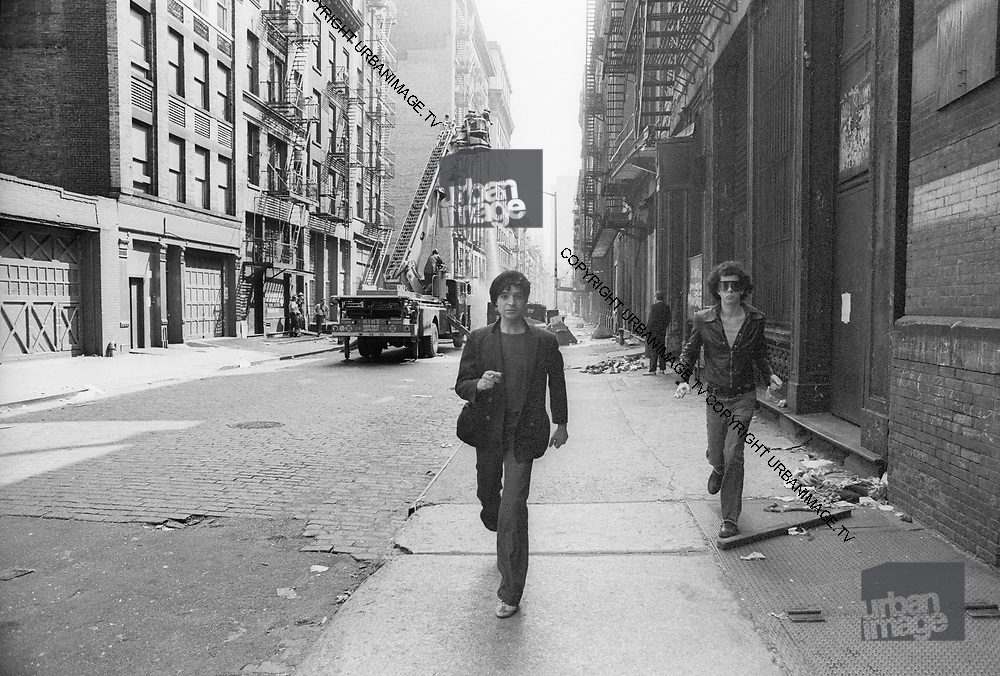 Alan Vega and Martin Rev of Suicide during a  New York early Sunday Morning 1979