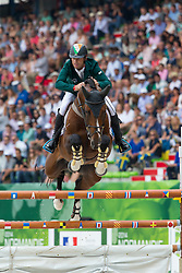 Denis Lynch, (IRL), All Star 5 - World Champions, - Second Round Team Competition - Alltech FEI World Equestrian Games™ 2014 - Normandy, France.<br /> © Hippo Foto Team - Leanjo De Koster<br /> 25/06/14