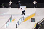 Alex Midler, USA, during the men's quarter finals of the Street League Skateboarding World Tour Event at Queen Elizabeth Olympic Park on 25th May 2019 in London in the United Kingdom. The SLS World Tour Event will take place at the Copper Box Arena during the 25-26 May, 2019.
