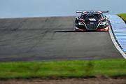 2012 FIA GT1 World Championship.Donington Park, Leicestershire, UK.27th - 30th September 2012.Laurens Vanthoor / Adam Carroll, Audi R8 LMS..World Copyright: Jamey Price/LAT Photographic.ref: Digital Image Donington_FIAGT1-17655