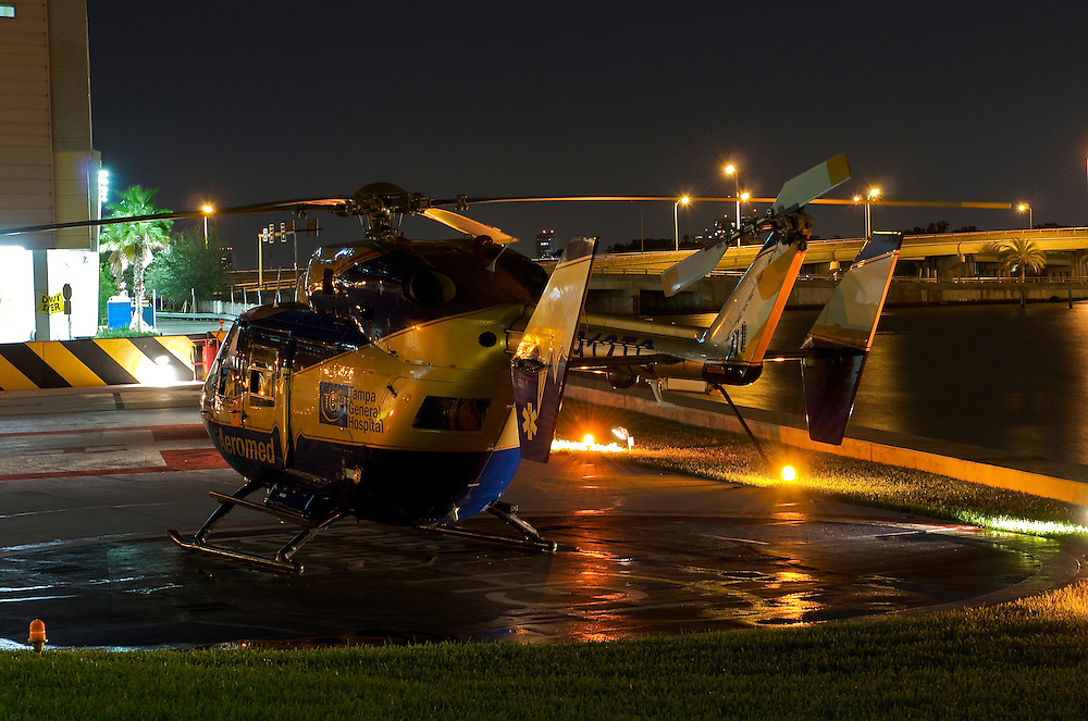 Helicopter in Tampa General Hospital