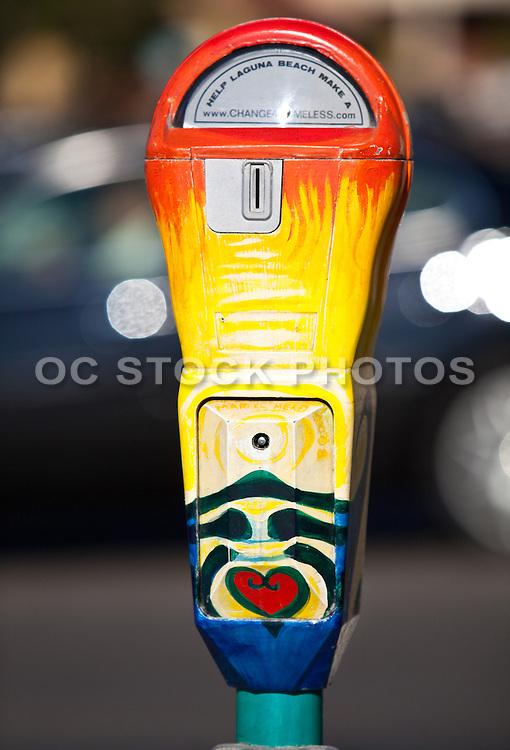 Art For The Homeless Parking Meters In Laguna Beach California
