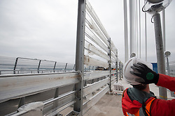 The barriers. The media preview day for the Queensferry Crossing held on Tuesday 22 August. !!! NOTE strictly embargoed until 00:01am on Sunday 27 August.