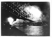 July 4  fireworks over Brooklyn Bridge. New York. 1992. © Copyright Photograph by Dafydd Jones 66 Stockwell Park Rd. London SW9 0DA Tel 020 7733 0108 www.dafjones.com