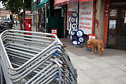 Barriers at the ready in preparation for the upcoming Notting Hill Carnival on August 22nd 2019 in London, England, United Kingdom. An expected 1 million revellers are expected to visit Carnival on the weekend.