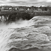 Cohoes Falls at spring flood, Mohawk River