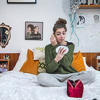 Nederland, Amsterdam, 10 januari 2016.<br />Kirsten Berkx(26) kandidaat The Voice.<br />Kirsten Berkx (geboren en opgegroeid in Echt) is mede-oprichter van band Lady Dandelion, maar maakt nu landelijk furore als kandidaat bij talentenshow The Voice (in het team van Miss Montreal).<br /><br /><br />Foto: Jean-Pierre Jans