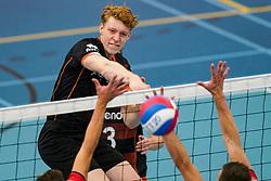 Siebe Korenblek of Talent Team in action during the league match Talentteam Papendal vs. Taurus on october 16, 2021 in van der Knaaphal, Ede
