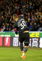 Everton's Richarlison celebrates scoring his side's first goal of the game