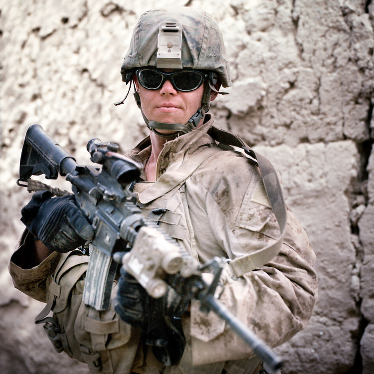 """Location:<br /> Patrol Base Fires, Sangin District, Helmand Province, Afghanistan<br /> <br /> Unit: <br /> 3rd Squad, 1st Platoon, Bravo Company, 1st Battalion, 5th Marines<br /> <br /> Name and Rank:<br /> Hospitalman Matthew Thomas """"Doc"""" Foreit<br /> <br /> Age: 25<br /> <br /> Hometown: Stone Park, Illinois<br /> <br /> Interview selections:<br /> <br /> Describe Sangin:<br /> <br /> """"It looks almost literally just like back home. Like, literally, there are times when I don't even realize I'm in a different country. Especially if I'm in the middle of a corn field or something I'll feel like I'm just somewhere near Peoria or something.""""<br /> <br /> """"A lot of us out here call it 'Vietstan' as a kind of nickname. I would say I think it's my generation's Vietnam.""""<br /> <br /> What were your expectations before you came here?<br /> <br /> """"I had been told constantly about how graphic it was over here, about 3/5 [the previous unit] and how they'd been losing corpsmen, especially their corpsmen . . . left and right. That's all I heard about . . . so for the first week I was paranoid as hell. Pretty much for the first two months . . .""""<br /> <br /> What was your first casualty that you treated?<br /> <br /> """"My first casualty, when I got to him he had been pretty much . . . his legs were gone, at least the flesh around his legs was pretty much gone all the way up to his waist. <br /> <br /> Pretty much like six inches below his hip was like where it had stopped, and everything else below that was just bone. His perineum . . . the blast had shot straight up in to him, and his genitals, while they were intact, had been pushed up into his abdomen, and everything else around his perineum and the underside of his thighs were just torn up.<br /> <br /> It was pretty much just seared raw flesh""""<br /> <br /> What did you try to do to save him?<br /> <br /> """"The first thing I did is first off I tried getting the tourniquets on him. Like I said, the flesh around his leg was gon"""