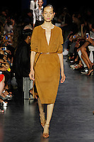 A model walks the runway wearing Altuzarra Spring 2015 during Mecedes-Benz Fashion Week in New York on September 5th, 2014