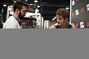LAS VEGAS, NV - JULY 10:  Sage Northcutt signs and autograph during UFC Fan Expo Day 3 at the Las Vegas Convention Center on July 10, 2016 in Las Vegas, Nevada. (Photo by Cooper Neill/Zuffa LLC/Zuffa LLC via Getty Images) *** Local Caption *** Sage Northcutt