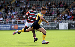 Jordan Ainslie of Worcester Warriors runs in the opening try against Leicester Tigers - Mandatory by-line: Robbie Stephenson/JMP - 30/07/2016 - RUGBY - Kingston Park - Newcastle, England - Worcester Warriors v Leicester Tigers - Singha Premiership 7s