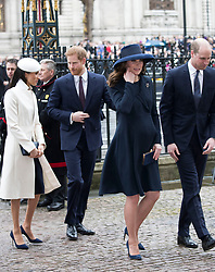 March 12, 2018 - London, London, United Kingdom - Image licensed to i-Images Picture Agency. 12/03/2018. London, United Kingdom. The Duke and Duchess of Cambridge, Prince Harry and Meghan Markle  arriving at the  Commonwealth Day Service at Westminster Abbey in London. (Credit Image: © Stephen Lock/i-Images via ZUMA Press)