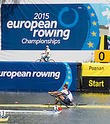Poznan, POLAND. 2015 FISA European Rowing Championships. Venue, Lake Malta. Saturday 30.05.2015. [Mandatory Credit: Peter Spurrier/Intersport Images] .   Empacher.
