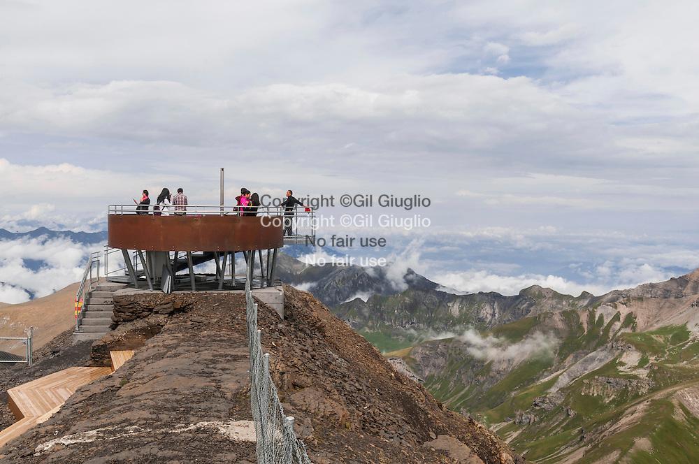 Suisse, Canton de Bern, région Oberland Bernois ou Alpes Bernoise, sommet du Schilthorn // Switzerland, Berne Canton, region of Bernese Oberland, summit of  Shilthorn mountain