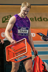 Rik Taam in action on the 60 meters during the Dutch Athletics Championships on 13 February 2021 in Apeldoorn