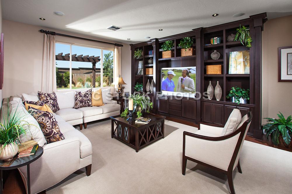 Interior Family Room Stock Photo