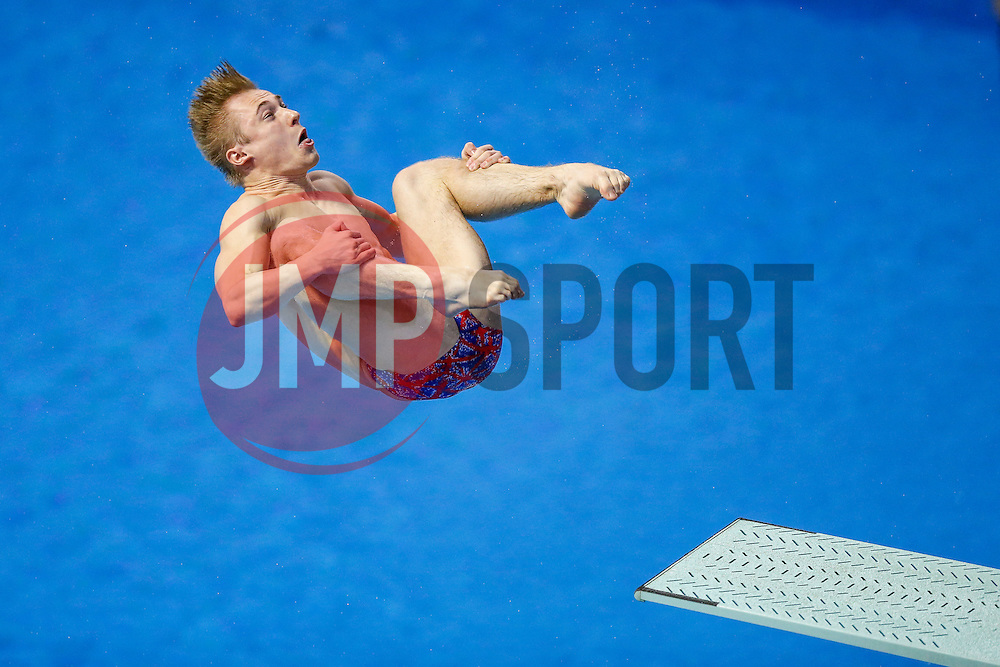 Jack Laugher of Great Britain in action in the Mens 3m Springboard Final going on to finish a disappointing 5th with 471.20 points - Photo mandatory by-line: Rogan Thomson/JMP - 07966 386802 - 21/08/2014 - SPORT - DIVING - Berlin, Germany - SSE im Europa-Sportpark - 32nd LEN European Swimming Championships 2014 - Day 9.