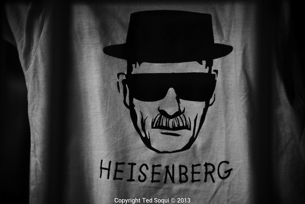 """Winter in New Mexico..A Heisenberg t-shirt from the TV show """"Breaking Bad."""" which is filmed in New Mexico."""