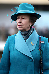The Princess Royal during Gold Cup Day of the 2019 Cheltenham Festival at Cheltenham Racecourse.