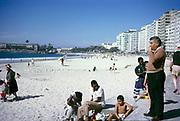 People at the beach Copacabana, Rio de Janeiro, Brazil, South America 1962