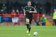 Forest Green Rovers Gavin Gunning(16) runs forward during the EFL Sky Bet League 2 match between Crawley Town and Forest Green Rovers at The People's Pension Stadium, Crawley, England on 6 April 2019.