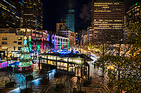 Christmastime in Downtown Seattle (Westlake Center)