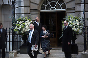 guests leaving the wedding receptions for Jerry Hall to Rupert Murdoch, Spencer House, London. 5 March 2016