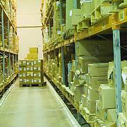 Carton boxes in warehouse