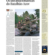 "Tearsheet of ""Ukraine: AZOV Battalion"" published in Expresso"