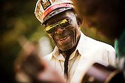 Blues singer Captain Luke at the Music Makers Organization home base in Hillsborough North Carolina.