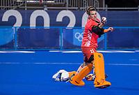 TOKIO - warming up keeper Josine Koning (GK) voor de wedstrijd dames , Nederland-India (5-1) tijdens de Olympische Spelen   .  COPYRIGHT KOEN SUYK