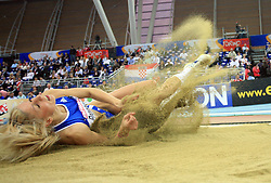 Paraskevi Papahristou of Greece in the final of Women Triple  jump at the 3rd day of  European Athletics Indoor Championships Torino 2009 (6th - 8th March), at Oval Lingotto Stadium,  Torino, Italy, on March 8, 2009. (Photo by Vid Ponikvar / Sportida)