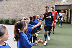 August 29, 2018 - San Jose, California, United States - San Jose, CA - Wednesday August 29, 2018: Chris Wondolowski, fans prior to a Major League Soccer (MLS) match between the San Jose Earthquakes and FC Dallas at Avaya Stadium. (Credit Image: © John Todd/ISIPhotos via ZUMA Wire)