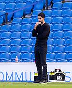 20th June 2020, American Express Stadium, Brighton, Sussex, England: Premier League football, Brighton v Arsenal.<br /> Arsenal manager Mikel Arteta.