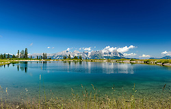THEMENBILD - Der obere Seidlalmsee mit dem Bergpanorama des Wilden Kaiser, aufgenommen am 26. Juni 2017, Kitzbühel, Österreich // The upper Seidlalmsee with the mountain panorama of the Wilder Kaiser at the Streif, Kitzbühel, Austria on 2017/06/26. EXPA Pictures © 2017, PhotoCredit: EXPA/ Stefan Adelsberger