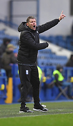 Birmingham City's Manager Steve Cotterill shouts instructions to his team
