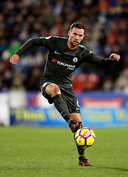"""Chelsea's Danny Drinkwater during the Premier League match at the John Smith's Stadium, Huddersfield. PRESS ASSOCIATION Photo. Picture date: Tuesday December 12, 2017. See PA story SOCCER Huddersfield. Photo credit should read: Mike Egerton/PA Wire. RESTRICTIONS: EDITORIAL USE ONLY No use with unauthorised audio, video, data, fixture lists, club/league logos or """"live"""" services. Online in-match use limited to 75 images, no video emulation. No use in betting, games or single club/league/player publications."""